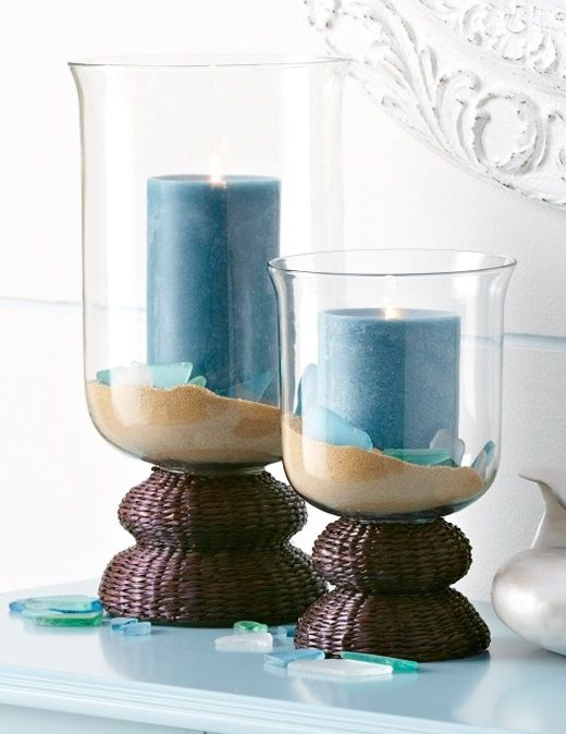 The Perfect Candle Holders For Beachcombers Coastal Ideas Pinterest Beach Decor And Home