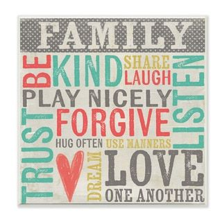 Shop for Stupell Family Inspirational Typography Art Beach Wall Plaque. Free Shipping on orders over $45 at Overstock.com - Your Online Home Decor Outlet Store! Get 5% in rewards with Club O!