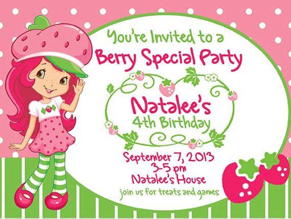 Strawberry Shortcake Birthday Party Printable