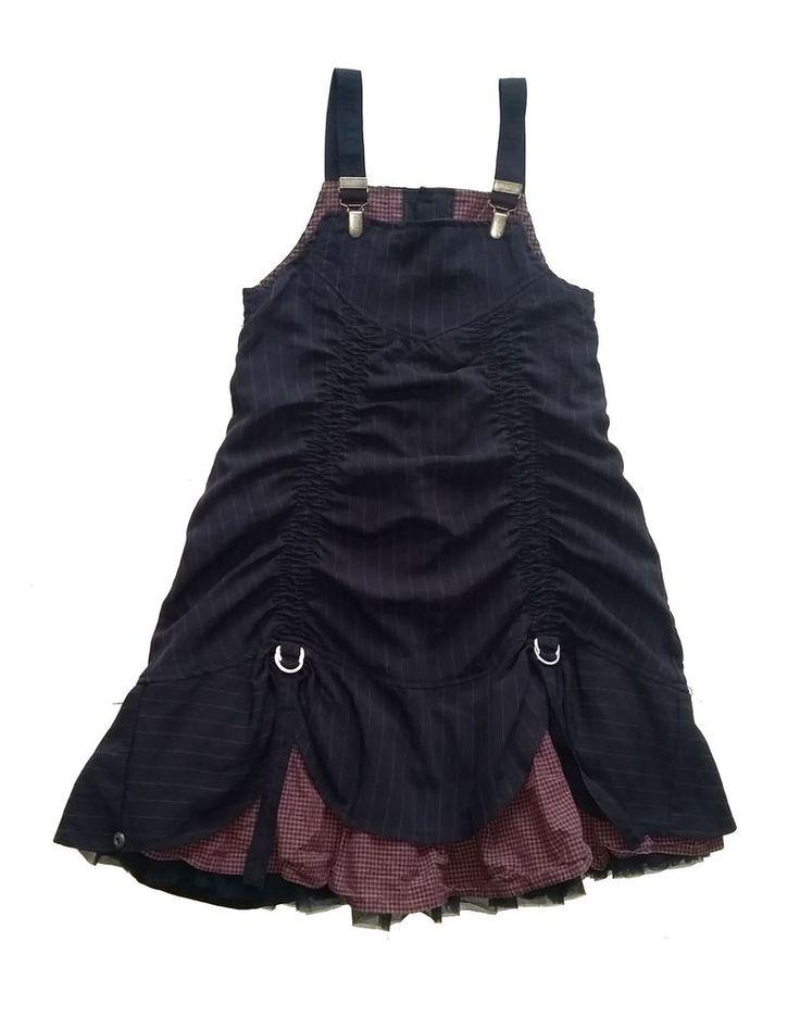 Jottum guter Zustand blau striped Suspender Kleid / Dress 140 10 Y