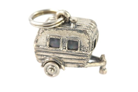 Big Sale Now Vintage Sterling Silver Teardrop Camping Glamping Trailer Charm for Bracelet