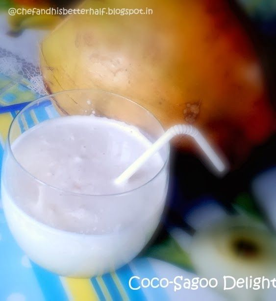 The Chef & His Better 1/2: Tender Coconut -sagoo shake