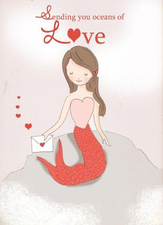 Sending you oceans of Love ~ Rose Hill Designs by Heather A Stillufsen
