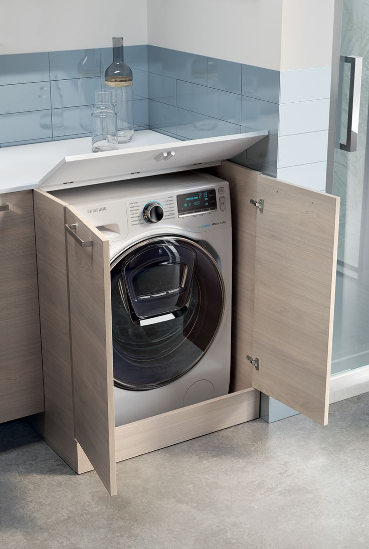 To grant easier access to the washing machine detergent dispenser, you can order the opening top to allow convenient use from the top.