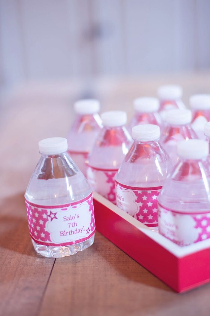 Drinks from American Girl Doll Themed Birthday Party at Kara's Party Ideas. See more at karaspartyideas.com!