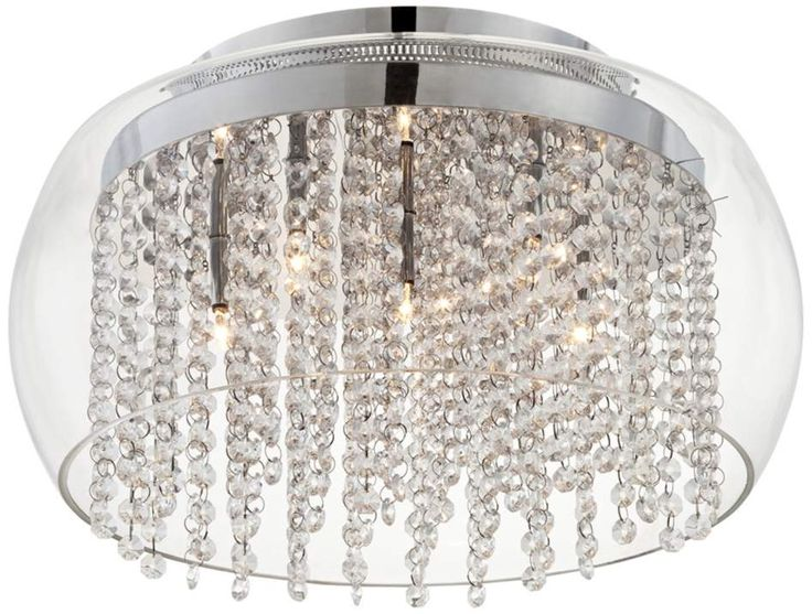 17 Best images about Ceiling Bling – Close to Ceiling Crystal Chandelier