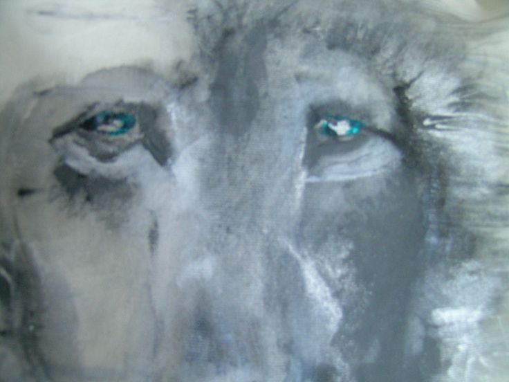 Uspiona Moc recznie malowana 50x50 w W.pelni Design na DaWanda.com