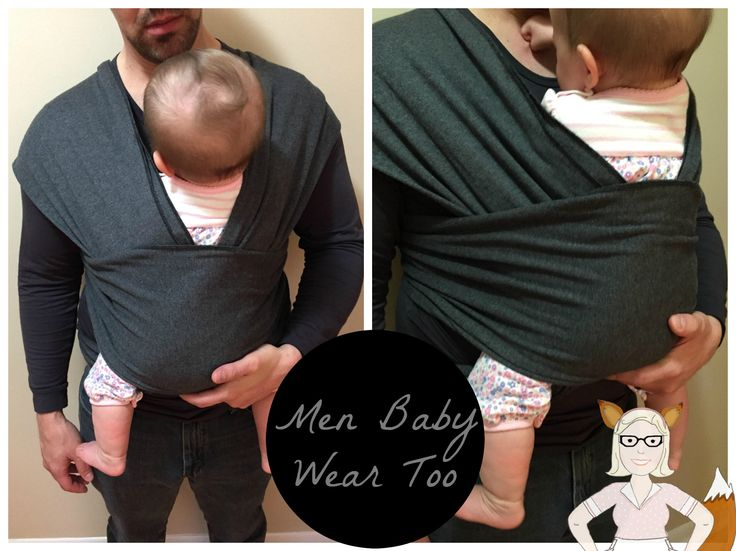 Men Baby Wearing - Bamboo Moby Wrap