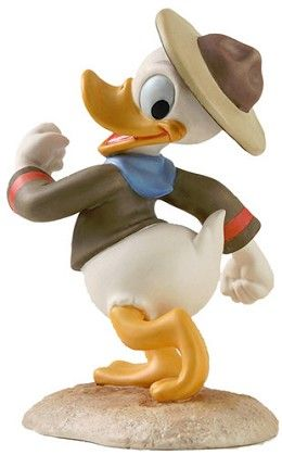 WDCC Disney Classics Good Scouts Donald Duck Happy Camper #WDCCDisneyClassics #Art. Donald Duck is the Member Gift Sculpture for those collectors who joined the Walt Disney Collectors Society and/or renewed in calendar year 2008. Edition closes 12/31/08.