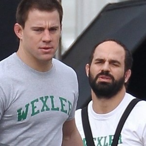 Foxcatcher Set Photos with Channing Tatum and Mark Ruffalo - The actors portray Olympic wrestlers Dave and Mark Schultz in director Bennett Miller's drama based on the tragic true story.