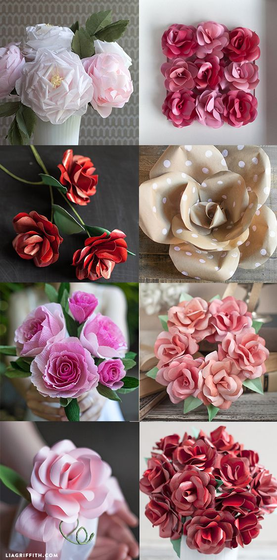 DIY Paper Flowers patterns and tutorials by handcrafted lifestyle expert Lia Griffith