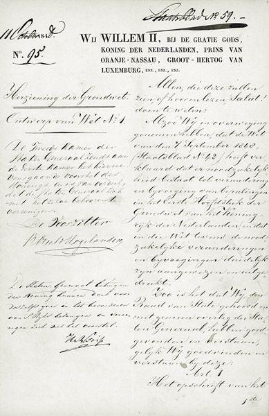 De Grondwet 1848 De belangrijkste wet van een staat