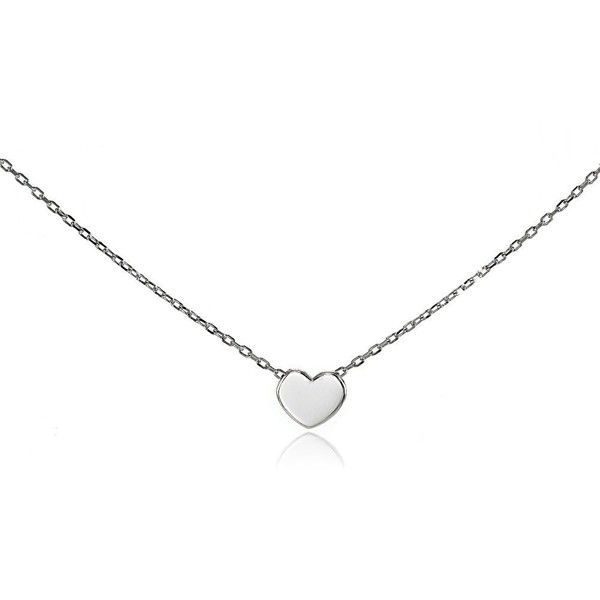 Sterling Silver Polished Heart Tiny Choker Necklace ❤ liked on Polyvore featuring jewelry, necklaces, pendant necklaces, pendant choker, heart choker, sterling silver heart pendant and sterling silver choker necklace