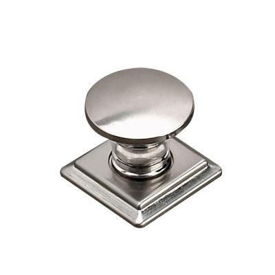 brushed nickel cabinet knob