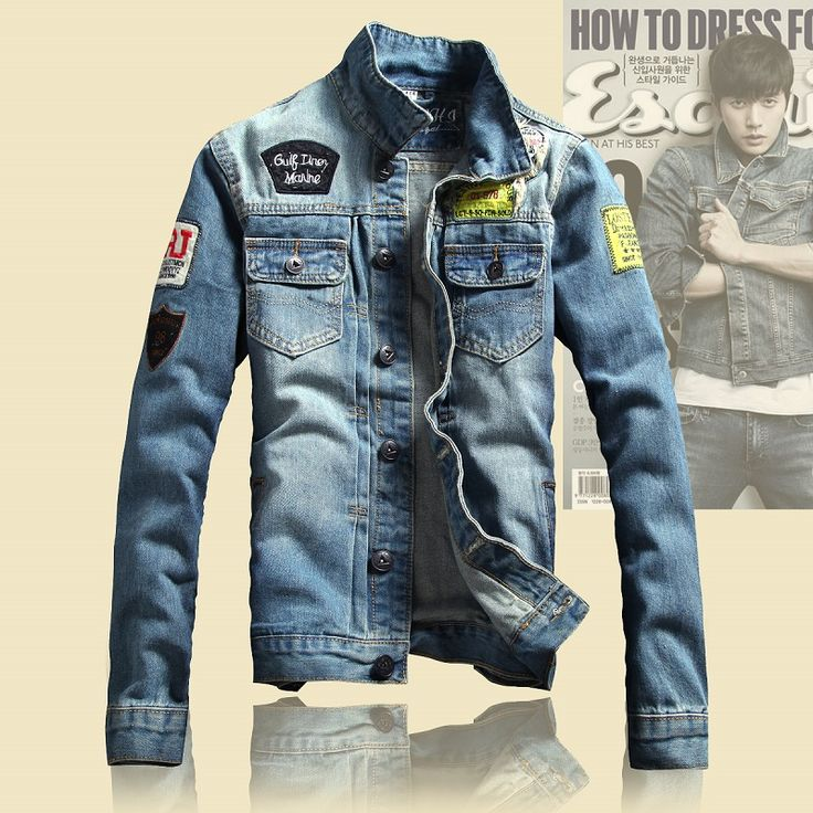 49 best men's jean jacket w/patches images on Pinterest