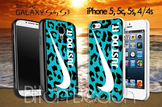 Nike leopard tiffanny blue pattern colours Design by BitchBeach, $15.95