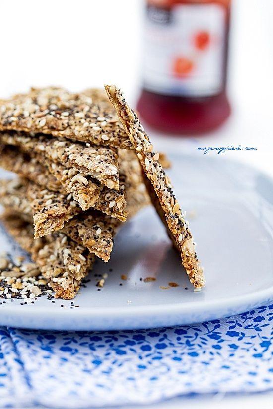 Chrupki chlebek skandynawski //  party treat healthy // knekkebrod