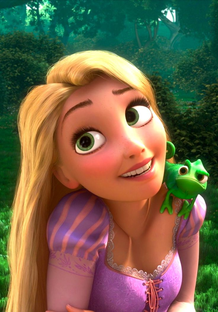 Rapunzel and Pascal....