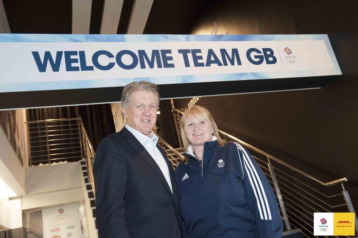 Olympic Curling Gold Medallist Rhona Martin with DHL Express UK CEO Phil Couchman