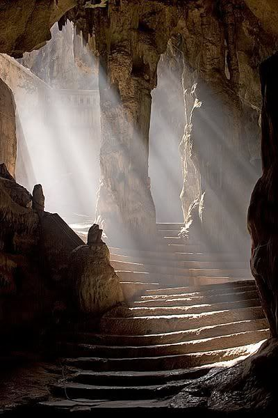 Down the ancient stairs: Caves Temples, Stairs, Beautiful, Khao Luang, Thailand Travel, Places, Luang Caves, Photo, Indiana Jones