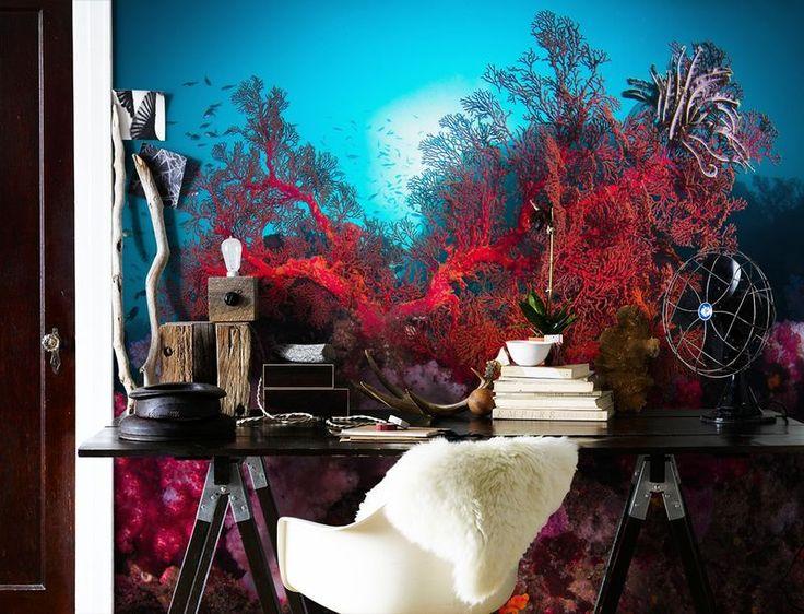 Färgrikt korallrev Tapet