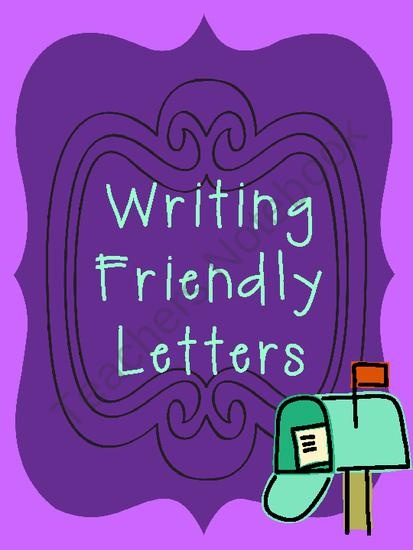 writing friendly letters resources printables graphic organizers product from school rules on teachersnotebookcom 3rd 5th grade pinterest writing