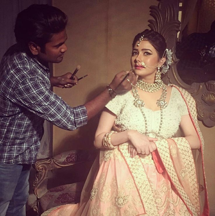 Work time with Actress- Leena jumani#Makeup by me # Hair by Ksm Academy Group....