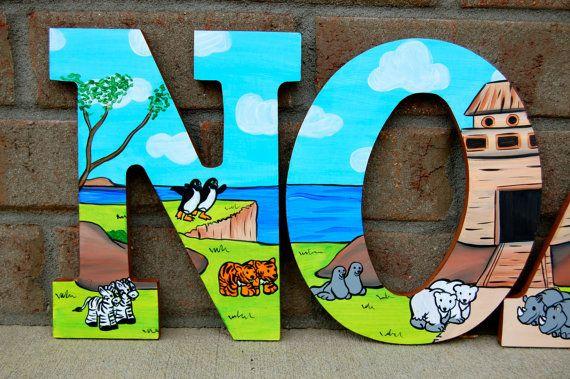 Arca guardería temática Arca de Noé Letras por LaceysCraftyLetters
