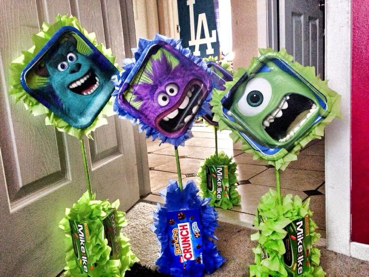 Monsters Inc Centerpieces & 133 best My lil monsters party images on Pinterest | Disney monsters ...