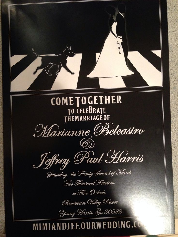 Beatles wedding invitations