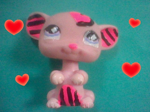 This is one of my old customs. Her name is Ziggy. She's not a full body custom though only ears,belly and the cute heart on her head. Pin if u like!!!!