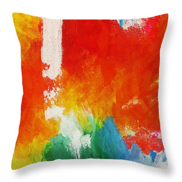 Throw Pillows - Water and fire Throw Pillow by Kathleen Wong