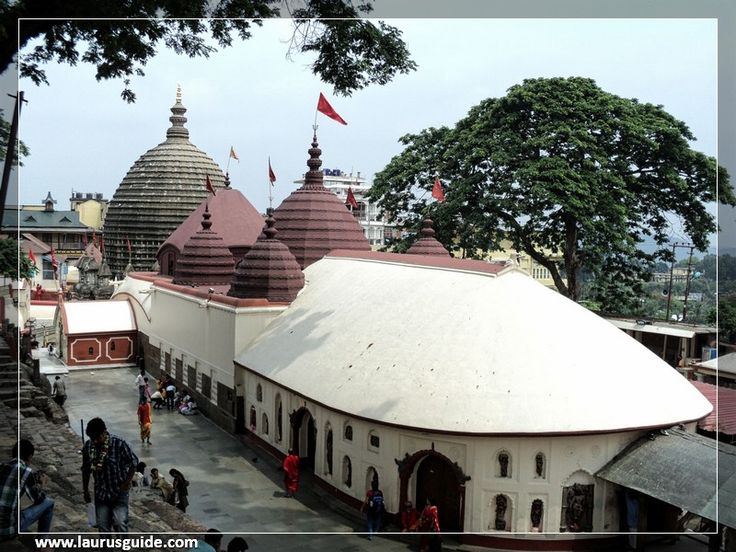 The Kamakhya Temple, also Kamrup-Kamakhya is a Hindu temple dedicated to the mother goddess Kamakhya. It is one of the oldest of the 51 Shakti Pithas. Situated on the Nilachal Hill in western part of Guwahati city in Assam, India, it is the main temple in a complex of individual temples dedicated to the ten Mahavidyas: Kali, Tara, Sodashi, Bhuvaneshwari, Bhairavi, Chhinnamasta, Dhumavati, Bagalamukhi, Matangi and Kamala.