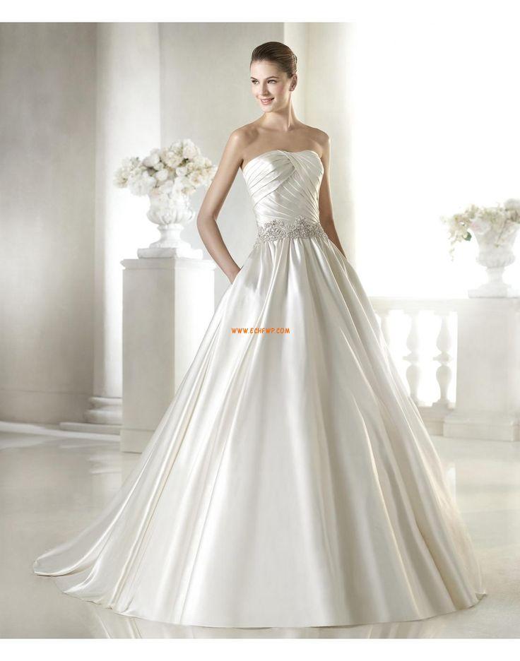 Kyrka Court Släp Elegant & Lyxig Bröllopsklänningar 2015