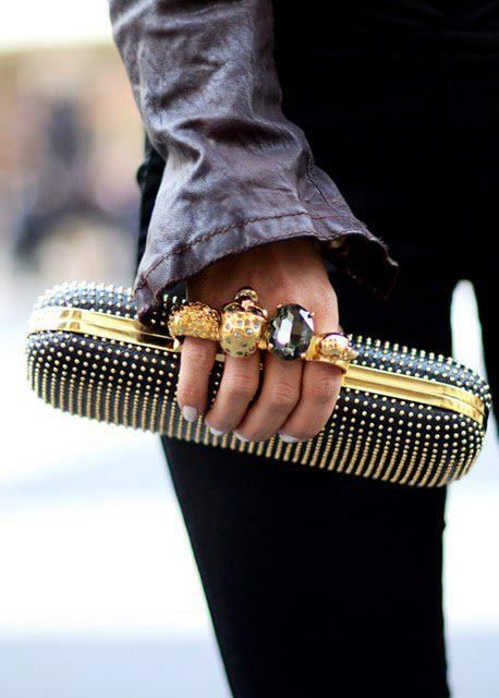 alexander mcqueen ring clutch.