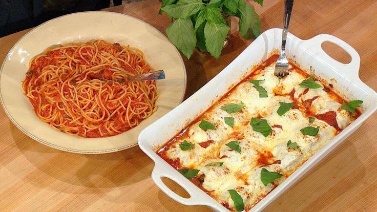 Mamma Leone's-Style Spaghetti and Meatballs with Mozzarella