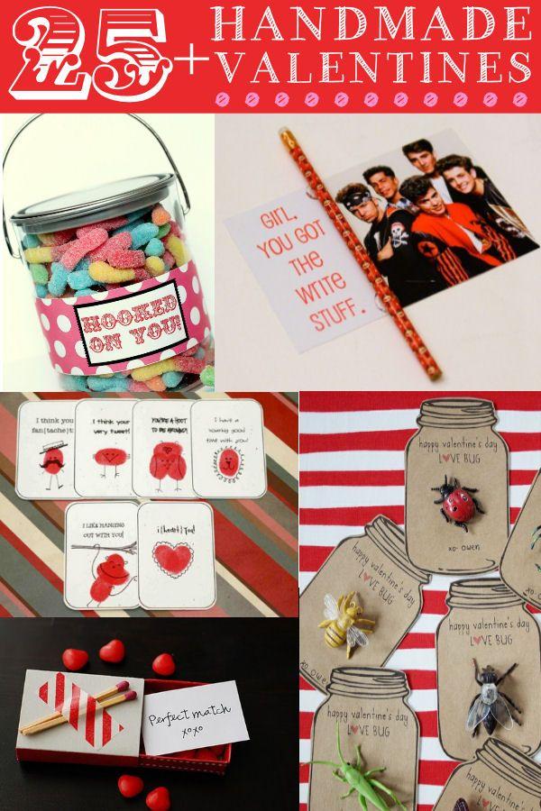 25+ Handmade Valentines Ideas. This is a great round-up on { lilluna.com } #valentines
