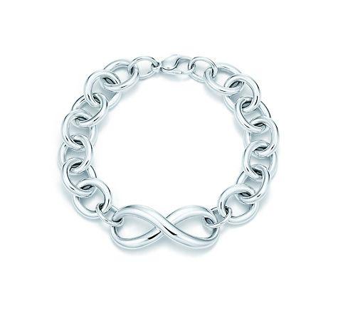 Tiffany & Co.   Item   Tiffany Infinity bracelet in sterling silver, medium.   United States
