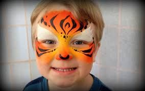 Image result for toddler tiger face paint