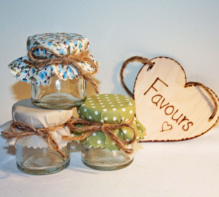 Country Style Mini Jam Jar Wedding Favours DIY Wedding by Melysweddings on Etsy