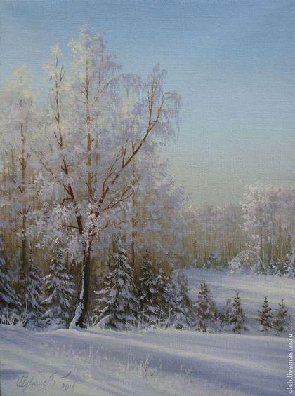 Прелестница зима - голубой,зимушка,снежный,зимний пейзаж,зимний лес,авторская живопись