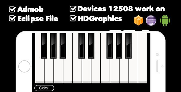 nice Fantastic PIANO WITH ADMOB - BUILDBOX &amp ECLIPSE PROJECT (Android)
