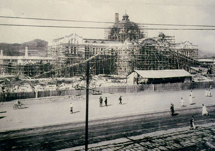 Keijo (Seoul): Seoul Station under construction, 1924