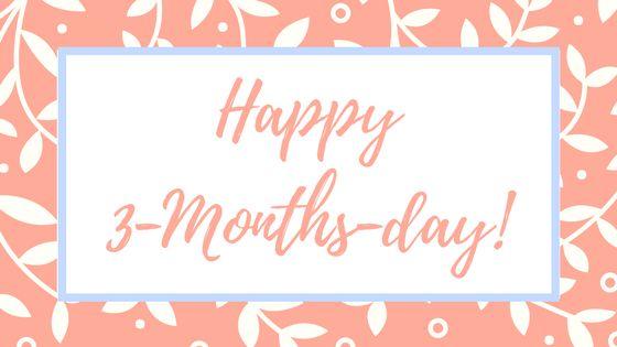 Unser kleiner Sonnenschein ist 3 Monate alt. Happy 3-Months-Day, little Sunshine!