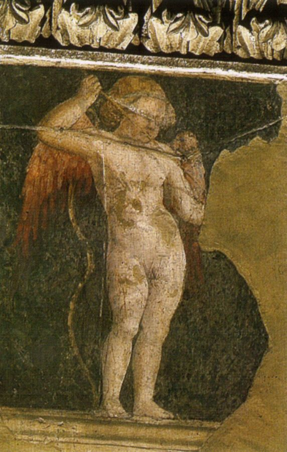 Cupido, Пьеро делла Франческа, 1452 - Базилика Сан-Франческо в Ареццо.