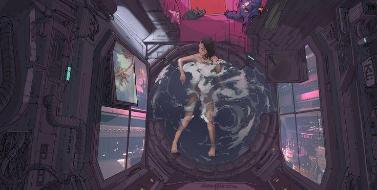 ArtStation - Bath 2077, klaus wittmann