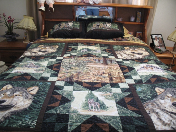 Wolf Quilt Sewing Projects Pinterest Wolves And Quilt