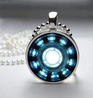 Iron Man Arc Reactor Pendant Necklace by TacticalDetroit on Etsy, $11.99