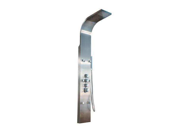 Muebles de Baño y Cocina Interceramic, este producto es de la línea Niza, regadera niza de torre acero inoxidable. Visita nuestro sitio www.interceramic.com