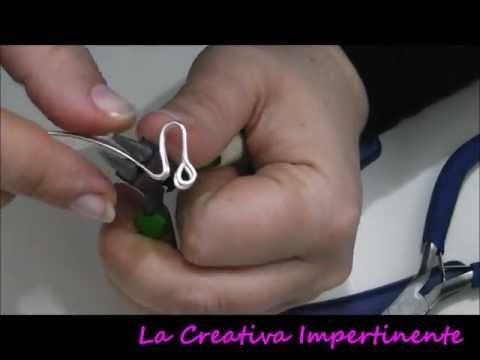 Tutorial wire: realizzare dei bottoni con filo metallico | DIY wire button